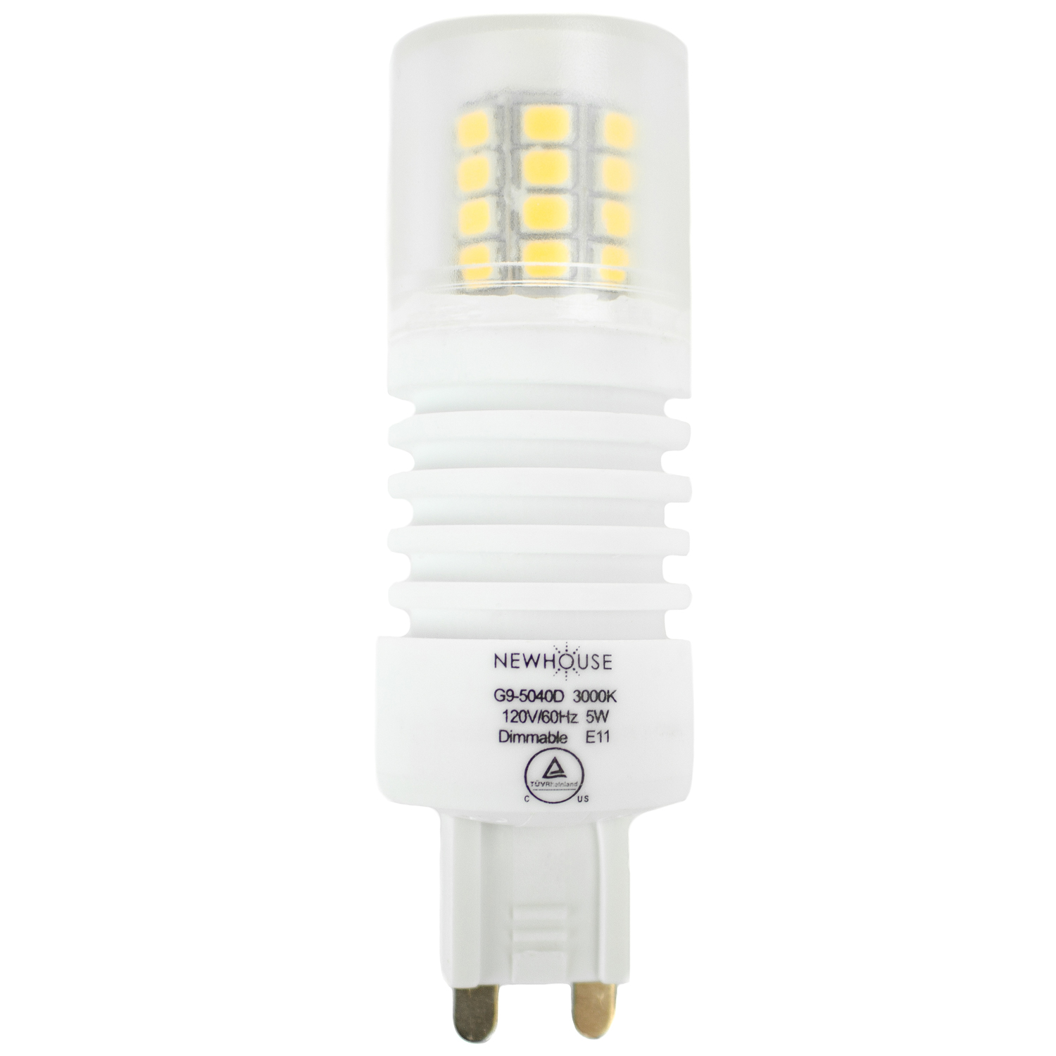5w 40w Equivalent G9 5040d Dimmable Led G9 Bulb Newhouse Lighting