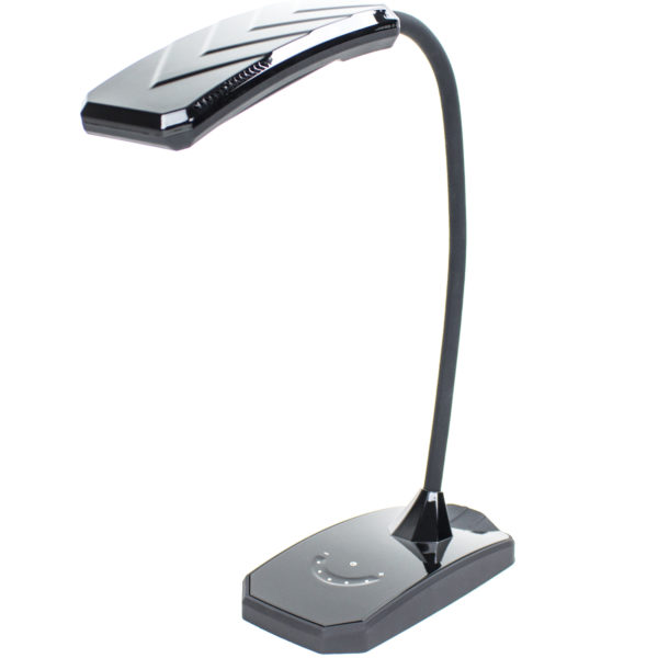 desk lamps 6w led desk lamp w dimmer and usb charging port outlet. Black Bedroom Furniture Sets. Home Design Ideas