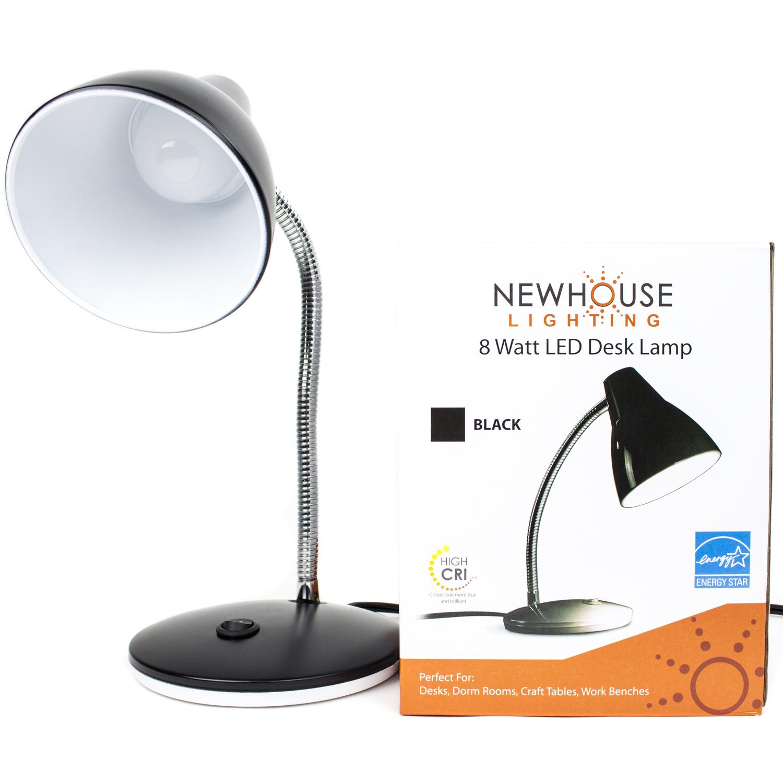 8W Energy Star LED College Desk Lamp, Black - 8W Energy Star LED College Desk Lamp, Black - Newhouse Lighting