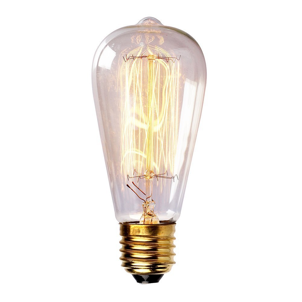 newhouse lighting 60 watt vintage edison filament light bulb e26 base. Black Bedroom Furniture Sets. Home Design Ideas