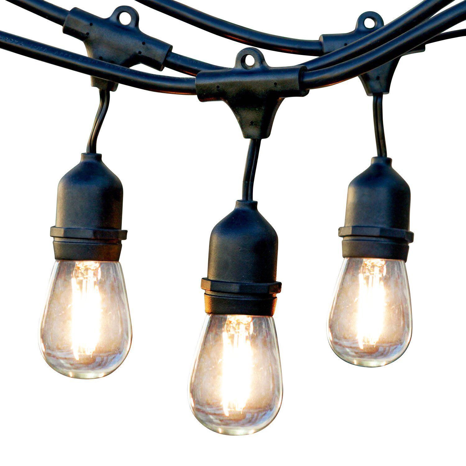Newhouse Lighting Outdoor Weatherproof Commercial Grade Led String Lights With Hanging Sockets Technology