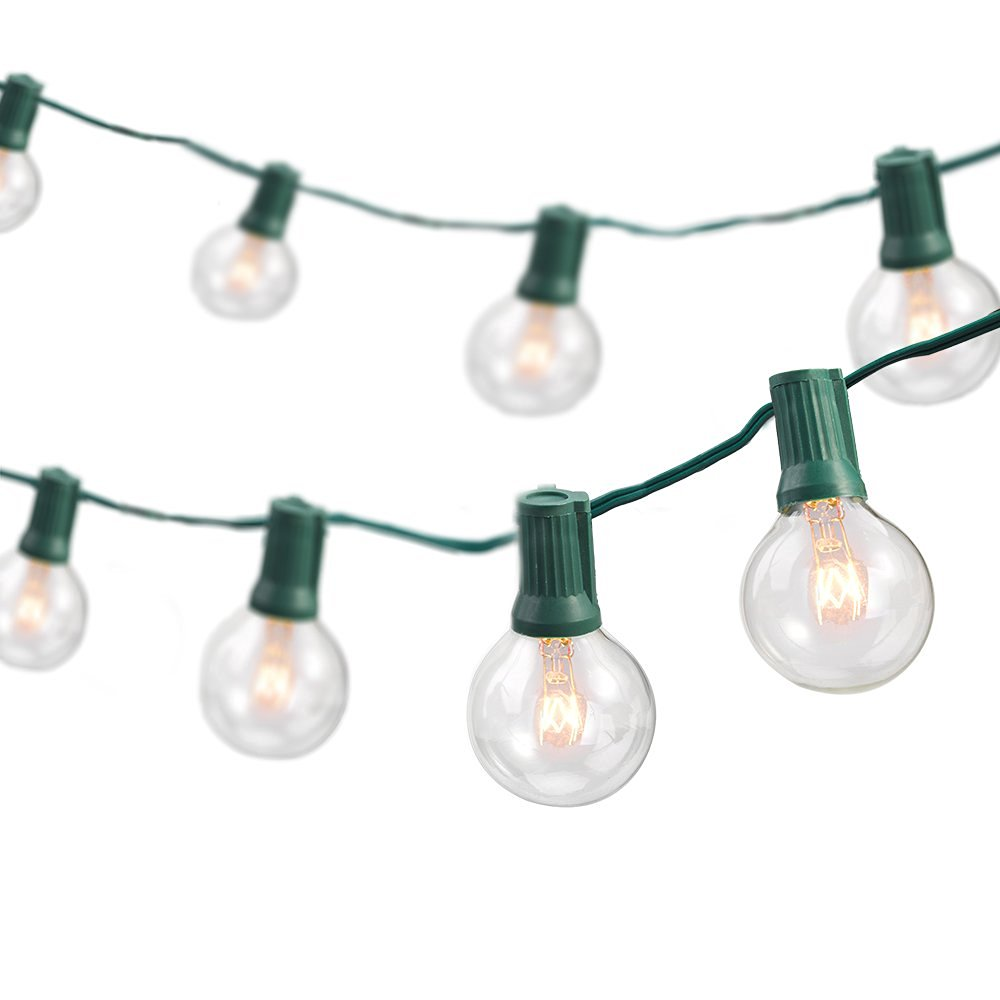 string lighting indoor. Newhouse Lighting Indoor/Outdoor Weatherproof Party String Lights | 25-Feet 25 Sockets Indoor