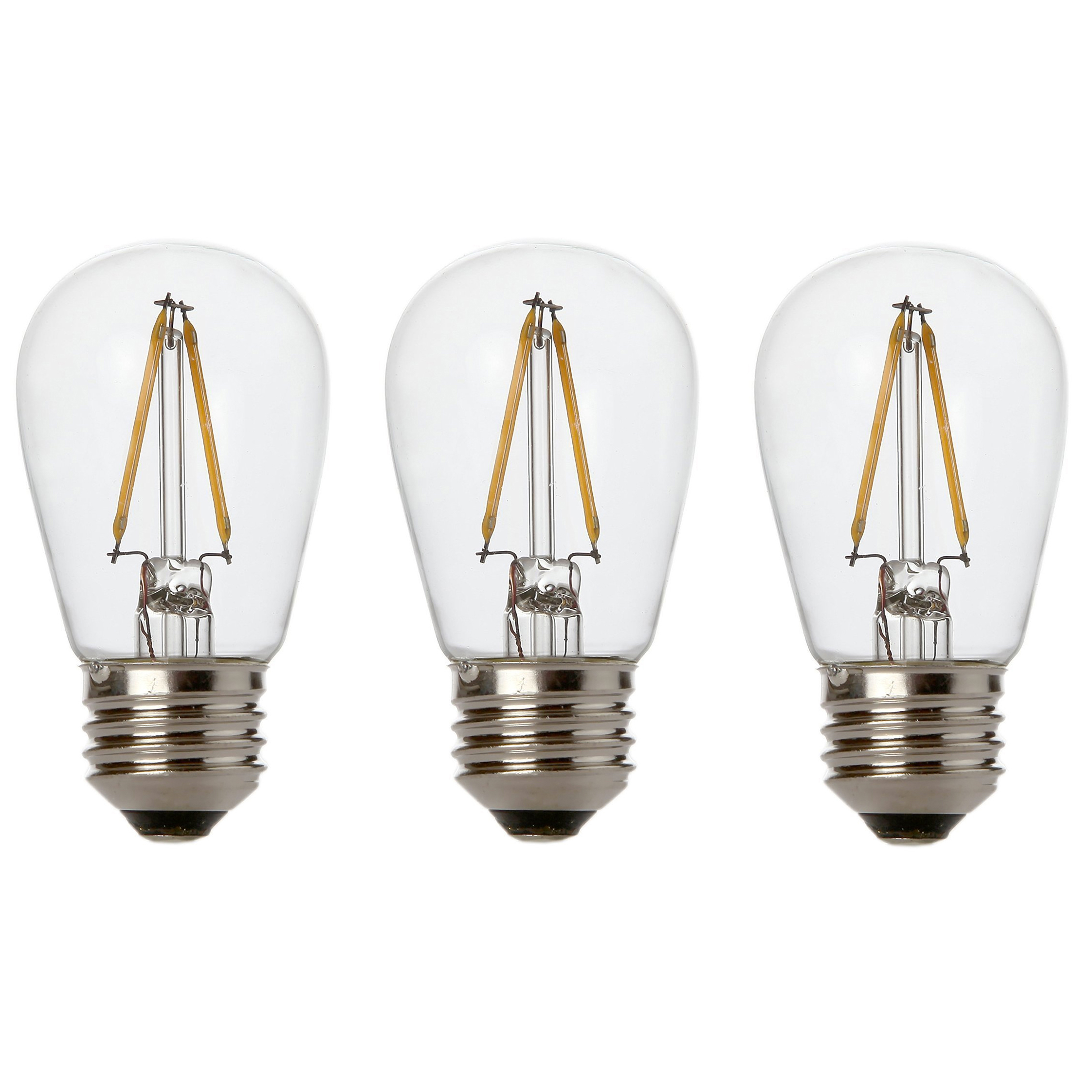 Newhouse Lighting 2W S14 LED Replacement String Light Bulbs 3-Pack