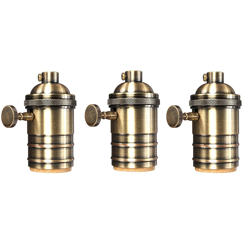 pendant lighting edison. Newhouse Lighting E26/Standard Base Solid Brass Light Socket Vintage Edison Pendant Lamp Holder, T