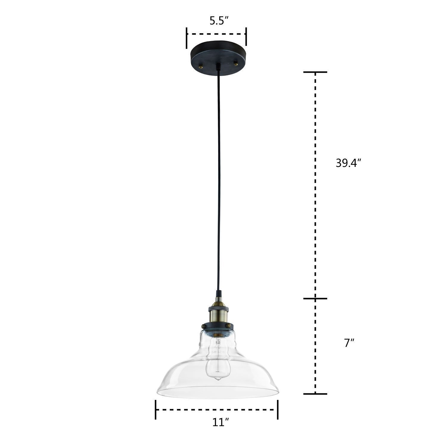 Newhouse lighting rustic vintage hanging glass pendant lamp kit newhouse lighting mozeypictures Gallery