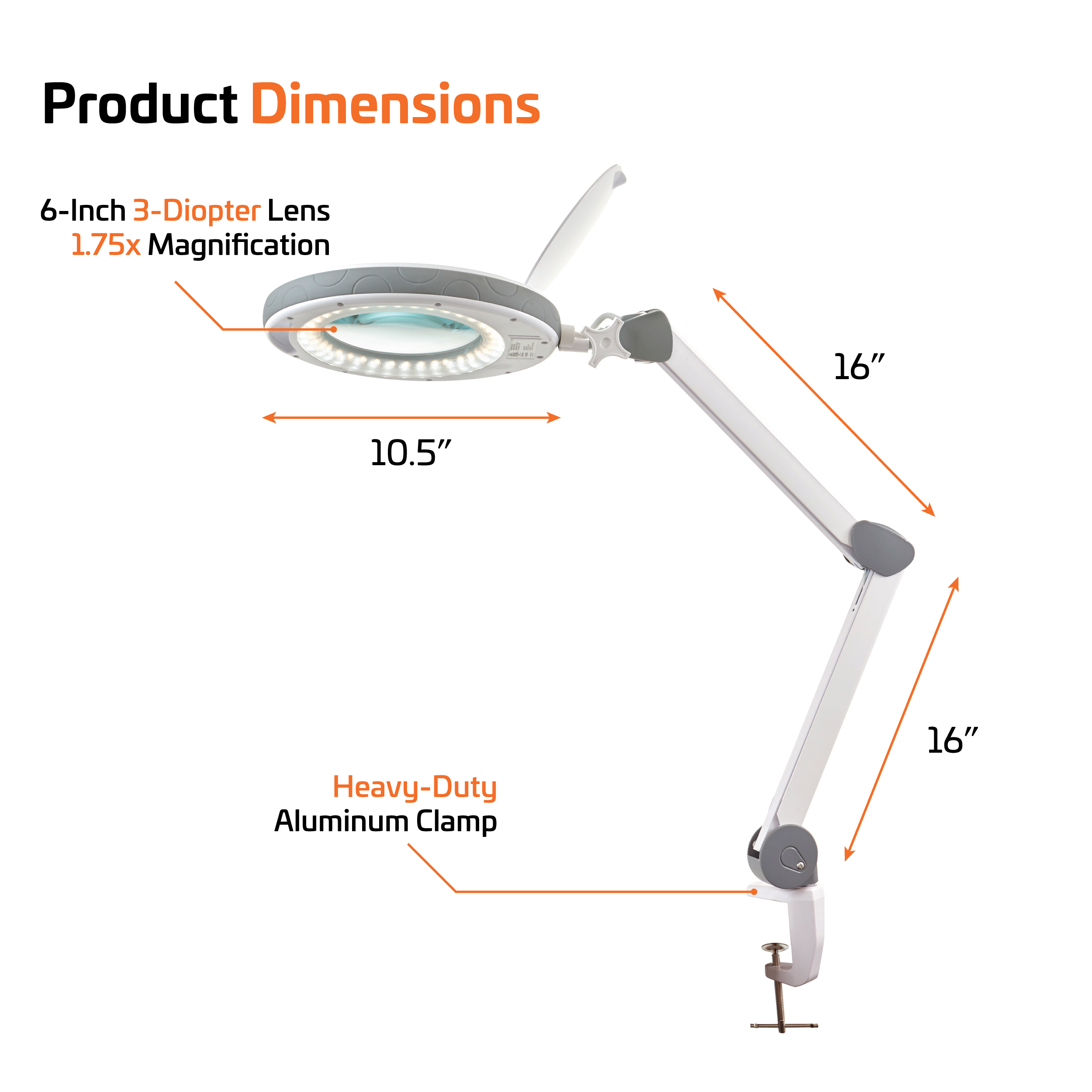magnifier professional with lighting base led lamp floor by magnifying product table newhouse or